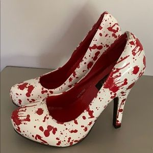 Blood splatter shoes